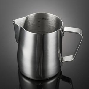 12 once in acciaio inossidabile schiuma di latte brocca cappuccino brocca tazza di caffè brocca di versamento tazza di caffè espresso tazza di arte del latte