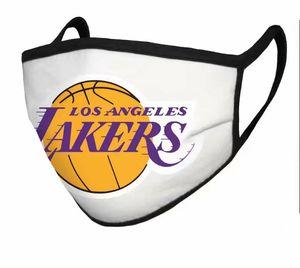 5pcs aficionados al fútbol de baloncesto de algodón máscara del equipo de fútbol material de máscaras máscara disponible transpirable Deportes reutilizables y lavables