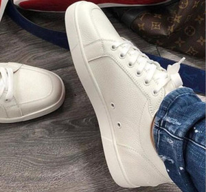 Marchi di alta qualità nuovo bianco, in pelle nera Rantulow scarpe casual da uomo, donna in piatto lussuoso basso in basso rosso scarpe da ginnastica con scatola