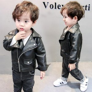 Children's Jacket 2020 Baby Girl Boy Spring Autumn Winter PU Coat Jacket Kids Fashion Leather Jackets Children Coats Overwear