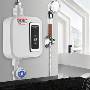 220v Calentador de agua de baño cocina calentador de agua instantáneo indicador de temperatura del grifo eléctrico grifo de la ducha caliente sin tanque Tap T200424 cocina