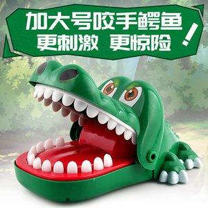 Vente Hot New Big Taille Crocodile Bouche populaire Dentist Bite doigt Jeu drôle Gags Jouet novetly jouet pour enfants Y200428