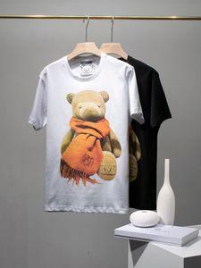 20ss New Arrival Paris designer Scarf bear print Tshirts Crewneck Short Sleeve Tee Breathable Vest Shirt Streetwear Outdoor Tshirt 6.28
