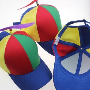 Смешные Cute Творческий Съемный Propeller Bamboo Dragonfly Baseball Cap Hat Дети Shade Родитель-ребенок Cap