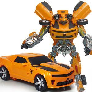 Çocuk Deformasyon Oyuncaklar Tuba Wasp Michael Otomobil Robot Ekskavatör Araba Modeli Ölçekli Acousto-optik Çocuk Hediye Diecasts Otobüs Oyuncak Araçlar