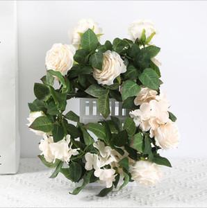 rose hydrangea rattan home ceiling wedding simulation flower decoration simulation green plant factory direct sales