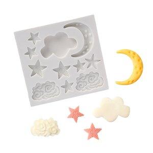 Mutfak Serisi Cloud Yıldız Ay Silikon Kalıp fondan Kalıp Kek Dekorasyon Araçları Çikolata Gumpaste Kalıp