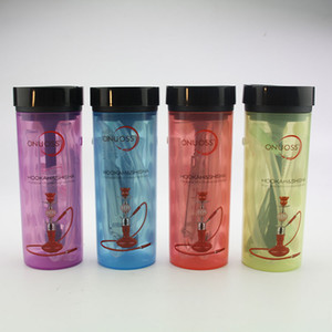 Hot Sale Atacado Preço coloridas de acrílico Chicha Shisha Hookah Cups Mini personalizado Bong portáteis Água Bongos com acessórios conjunto de mangueira