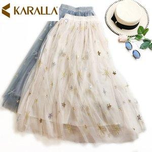 2019 новый стиль лето взятка рок мода женщины сетка лоскутное бальное платье рок C854 Y19071501