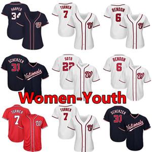 new jersey Washington costume nazionale delle donne della gioventù Kid Anthony Rendon Max Scherzer Juan Soto Trea Turner Ryan Zimmerman baseball Maglie