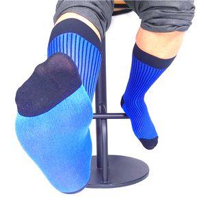 2019 Stripes Mens Long Socks 남성 정장 용 클래식 양질 남성 양말 섹시한 정장 호스 양말 게이 Sox
