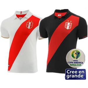 2019-20 Perù Copa America Soccer Jersey Home Perù Camicia da calcio Camiseta de fútbol Perù Maillot de Foot Guerrero Camisa de Futebol