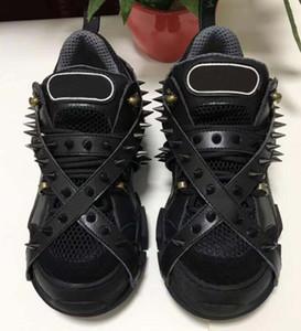 Шипы Flashtrek дизайнер кроссовки с шипами съемные шипы мужские Роскошные дизайнерские туфли мода повседневная дизайнерская Женская обувь кроссовки d5