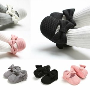 Toddler Kids Baby Girls Soft Cotton Princess Bow Loving Heart Shoes Crib Sole Sneaker 0-18M6Uis#