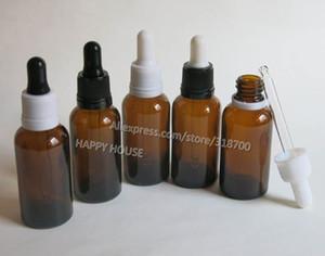 탬퍼 분명 드롭퍼, 30cc 갈색 유리 에센셜 오일 병 도매 E-주스 병 360pcs / 로트 30ML 앰버 유리 병