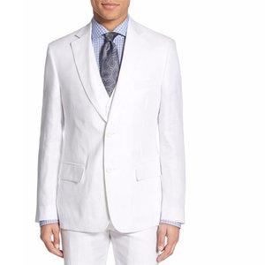 HB033 Custom Plus Men's suit white wedding formal occasion suits dress set high quality handsome men suit (jacket+pants+vest)