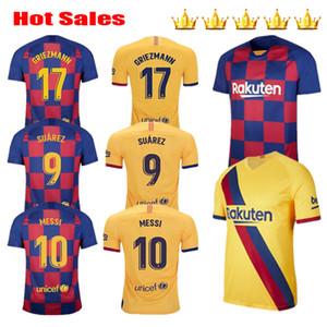 2019 2020 2021 GRIEZMANN 17 Messi 20 21 Futebol SUAREZ camisas de futebol MALCOM maillot de pé crianças kits PIQUE Vidal Dembele