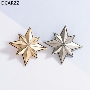 Captain Marvel Pin Vintage Gold Brooch the Endgame Accessories Women Backless Dresses Jewelry Wholesale