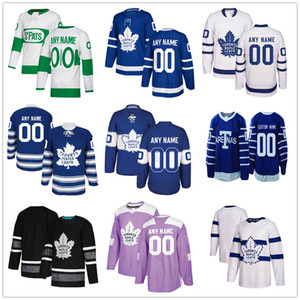 Personalizado Toronto Maple Leafs # 33 Frederik Gauthier 40 Garret Faíscas 9 Glenn Anderson 92 Igor Ozhiganov Homens Mulheres Crianças Juventude Hockey Jerseys