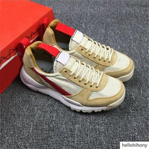 Authentic Tom Sachs Craft Mars Yard 2.0 Space Camp Running Shoes For Men,Best Quality AA2261-100 Natural Sport Red Maple Outdoor Sneakers