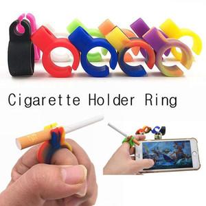 Silikon Zigarettenspitze Ring Finger Hand Rack Zigarettenspitze verstellbarer Ring Rauchen Zubehör für Männer und Frauen