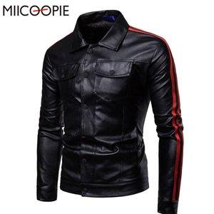 MIICOOPIE Nouvelle Automne Hommes PU Veste En Cuir Pour Hommes Fitness Mode Homme Daim Veste Casaco Masculino Casual Manteau bomer
