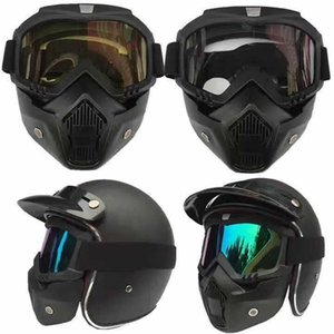 Outdoor Ciclismo Deserto Escursionismo ripresa Fans staccabile antivento Anti-UV Occhiali dell'esercito CS Campo fronte pieno Tactical Goggles Mask