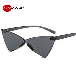 UVLAIK Óculos Fashion For Women Ladies Cat Eye óculos de sol Uma peça Bow PC Lens óculos na moda dos doces Cor Sunglass