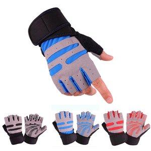 Les hommes et les femmes Finger moitié Gants Fitness Poids Gants de levage poignet Gym Protect Musculation Formation Haltérophilie Sport Gant Fingerless