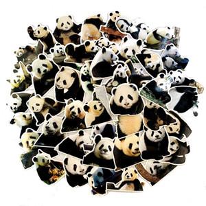 5 Sets=250PCS Panda Cute Stickers Trolley Case Guitar Electric Car Waterproof PVC Stickers