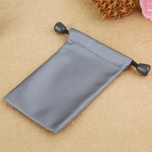 7*11cm Grey Waterproof Drawstring Storage Bags Earphone USB Power Adapter Charger Package Bags