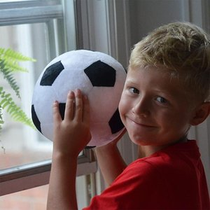 8 12inch Plush Soccer Sports Ball Plush Football Throw Pillow Stuffed Soft Plush Toy For Toddler Baby Boys Kids Funny Gift