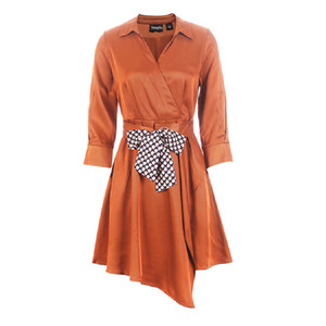 Yesiyifu Spring New Temperament Half Sleeve Irregular Skirt A-line Mini Dress for Women Size S M L XL