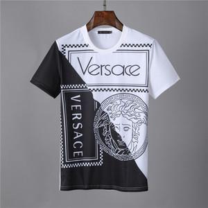 2019 lettere di disegno della maglietta di cotone stampa tee Abbigliamento delle donne T-shirt a maniche corte T-shirt casuale M 3XL
