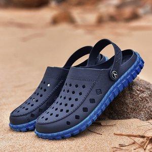 2019 Erkekler Sandalet Yaz Ayaklı Terlik Erkekler Açık Plaj Günlük Ayakkabılar Erkek Yüksek kaliteli Sandalet Su Ayakkabı Sandalia Mar15 Floplar