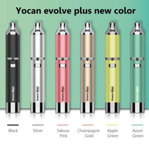 Authentic Yocan Evolve Além disso Kit 1100mAh Evolve vaporizador Dry Wax vaporizador Pen Yocan Evolve D Kit Quartz bobina dupla E Cigarros Em stock