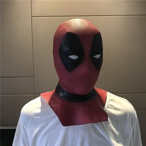 Latex Full Face Helmet Deadpool Wade Winston Wilson Party Costume Masks Adult Halloween Funny Props Movie Deadpool Cosplay Mask