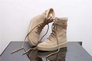 Горячий Сбывание Дизайнер Cheasle Boots Kanye West Military Креп Сапоги замша Owen Сезон 2 Обувь Сапоги для верховой езды мужчин
