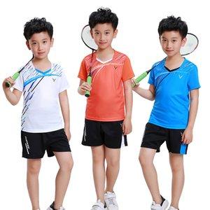 Adsmoney menino tenis masculino, menina camisa de tênis de mesa, garoto de manga curta camisa de tênis de jersey, crianças badminton camisa