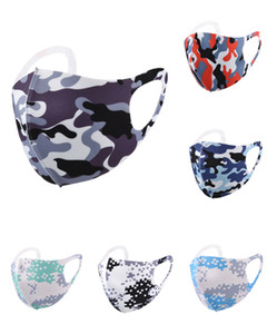 Leopard Camouflage Face Masks Anti-dust Wind Mouth Mask Washable Breathable Outdoor Cyling Bicycle Protective Mask For Men Women