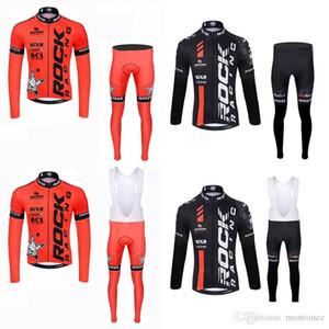 ROCK RACING équipe cyclisme à long maillot manches (BIB) pantalons ensembles VTT vélo Ropa Ciclismo sport Jersey Set c3029