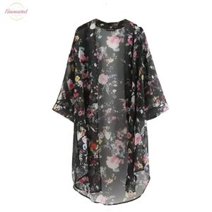Womens Clothing Summer Sunproof Cardigan Fashion Women Chiffon Bikini Cover Applique Up Kimono Cardigan Coat Bathing