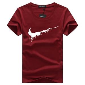 Venta al por mayor más el tamaño de la marca de lujo clásico o cuello de la camiseta que basa la camisa de la calle Run hombre poloshirt tee mujeres del diseñador de la manga corta tops # 16