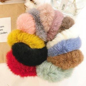 2019INS мода Мех женщины Scrunchies сладких женщины волосы Scrunchies девочек Hairbands дизайнер волосы аксессуары для женщин возглавляют группы