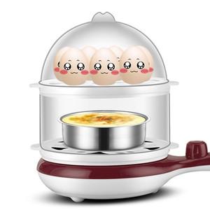Genéricos 3 em 1 Multi-função Elétrica Egg Cooker até 14 Ovos Boiler Steamer Fry Dupla camada Utensílios de Cozinha Utensílios de Cozinha