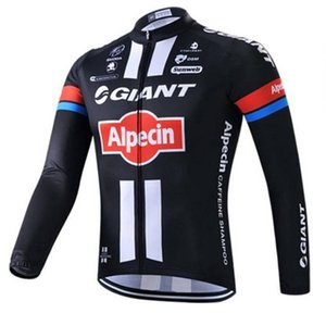 2020 Giant Team Cycling Long Sleeves Jersey Bib Pants Sets Men \&#039 ;S Bicycle Clothing Quick Dry Comfortable