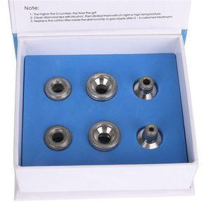 Microdermoabrasione Strumento Peeling viso Dermabrasion Diamond Peeling Machine Punte Diamond sostitutive 6 unità per bacchette inossidabili