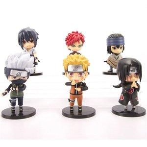 нарута фигурка игрушка 6 шт / много аним Naruto подарков фигурки куклы дети мальчиков дня рождения дети игрушка ZSS235