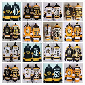 Chandails de maillot Brad Marchand Vintage CCM 75e Boston 63, hommes cousus 30 Tim Thomas 40 Tuukka Rask 46 chandails de hockey sur glace David Krejci