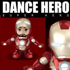 Danza Iron Man Action Figure Toy robot LED Flashlight con Sound Avengers Iron Man Hero giocattoli elettronici per bambini giocattoli